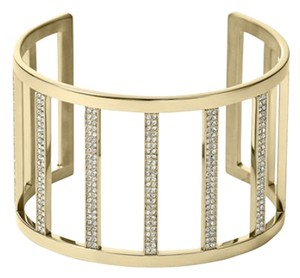Michael Kors with Bonus.... Clear Pave Wide Bar Open Cuff Bracelet