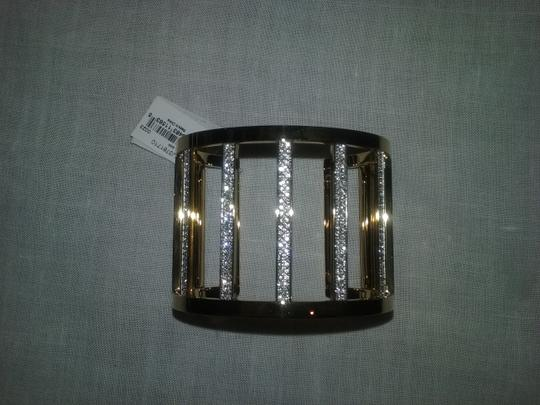 Michael Kors with Bonus-Clear Pave Wide Bar Open Cuff Bracelet