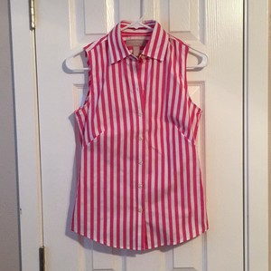 Banana Republic Top Pink White