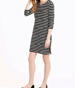 J.Crew short dress Navy Stripe on Tradesy