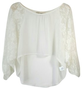 Derek Heart (6) Cropped Lace Lace Size 6 Top white