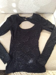 bebe Lace Top Black
