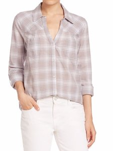 Joie Button Down Shirt Soft Grey