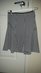 Banana Republic And Pencil Pinstripe Skirt Black & White