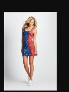 Guess short dress Red, white, blue Stars And Stripes Patriotic on Tradesy