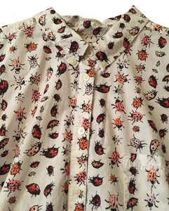 Gap Awesome Button Down Shirt Multi pink bugs