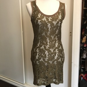 Miss Selfridge short dress Gold on Tradesy