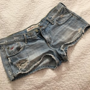 Hollister Destroyed Mini/Short Shorts Denim