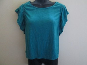 Mossimo Supply Co. Casual Knit Stretch Turquoise Top Teal