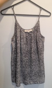 Ann Taylor LOFT Flowy Top Black and White