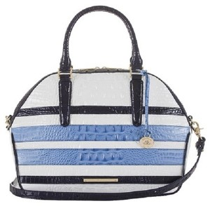 Brahmin Hudson Large Satchel in Regatta
