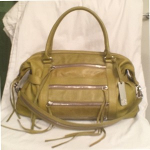 Botkier Leather Venice Satchel in Green