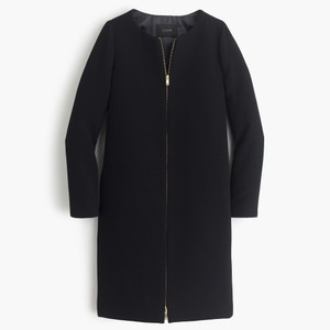 J.Crew Wool Collarless Double-cloth Pea Coat