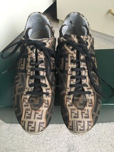 Fendi Sneakers Fall Leather Sporty Brown Athletic