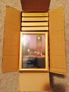 25 Gold Mini Picture Frames