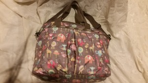 LeSportsac Zoo Buddies Diaper Bag in Brown Diaper Bag