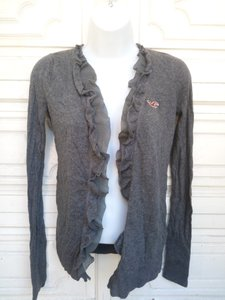 Hollister Ruffled Cardigan Open Cardigan Cardigan Sweater