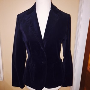 Gap Velvet Navy Blue Blazer