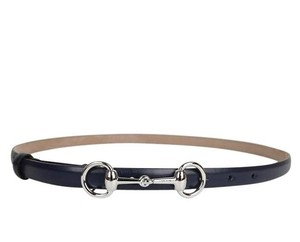 Gucci Gucci Leather Skinny Belt Horsebit Buckle 282349 Navy 4116 80/32