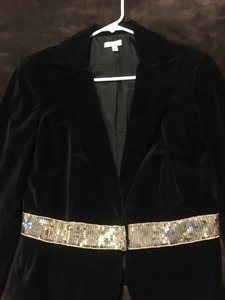 Cache Blazer Velvet Fancy Black Jacket