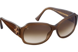 Louis Vuitton Brown glitter resin Louis Vuitton Ursula crystal sunglasses