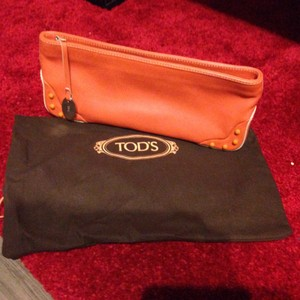 Tod's Orange Clutch