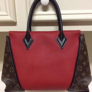 Louis Vuitton Tote in Red/ Brown