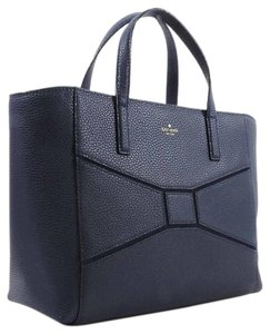 Kate Spade Very Stylish Leather Satchel in French Navy