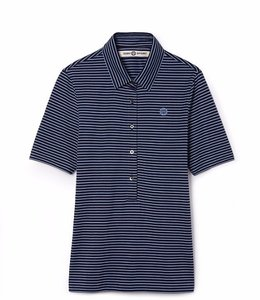 Tory Burch T Shirt TRIPED MERCERIZED