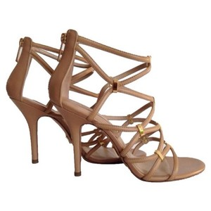 Michael Kors Collection Charlene Strappy Tan Sandals
