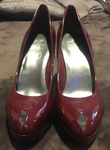 Jessica Simpson Patent Red Pumps