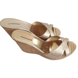 Jimmy Choo Perfume Gold Sandal Champagne/Gold Wedges