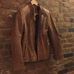 Glam Tan Leather Jacket