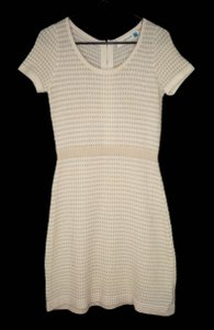 Anthropologie short dress Sweater Metallic Gold on Tradesy