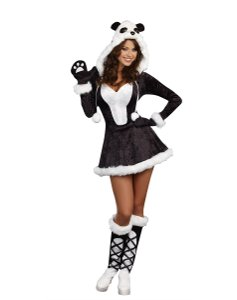 short dress Brown/White Halloween Costume on Tradesy