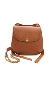 Mayle Leather Brass Double Chain Cross Body Bag