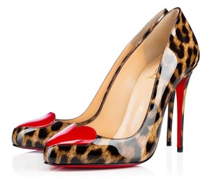 Christian Louboutin New High Heels Leopard Print & Red Pumps