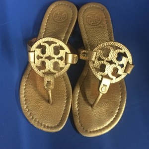 Tory Burch Gold Miller Sandals Gold Sandals