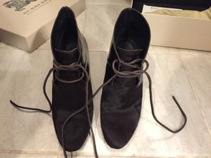 Burberry Bootie Fur Patent Chocolate Boots