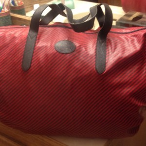 Gucci Red And Navy Stripe Travel Bag