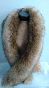 Other Tan Faux Fox Fur Muffler stole wrap