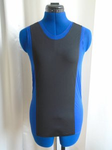 Reed Krakoff Silk Top Blue & Black