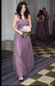 BHLDN Soft Plum Tulle Annabelle Formal Bridesmaid/Mob Dress Size 2 (XS)