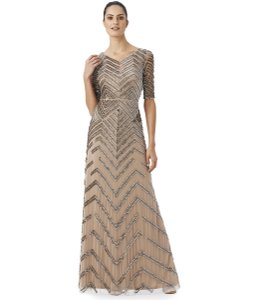 Adrianna Papell Bridesmaid Chevron Beaded Dress