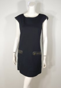 Cynthia Steffe Faux Leather Trim Dress