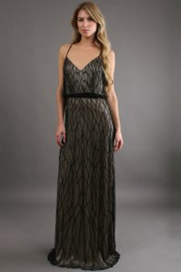 Adrianna Papell Beaded Gown Bridesmaid Dress