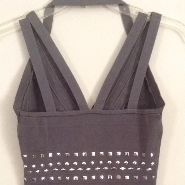 Cache Top Gray With Silver Beads