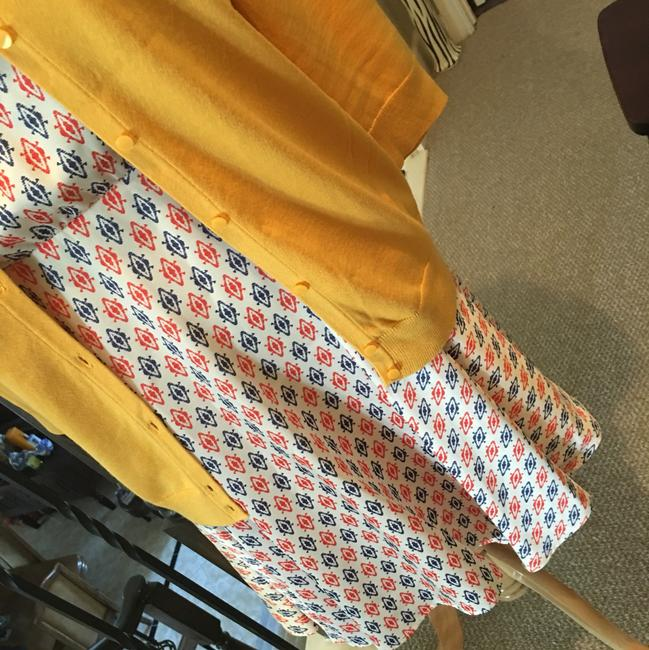 Daniel Cremieux short dress Cream, with red and blue print on Tradesy Image 3
