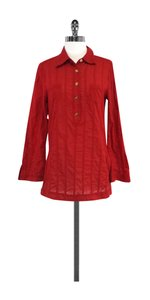 Tory Burch Red Cotton Shirt Sweatshirt