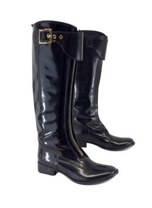 Tory Burch Black Front Zip Knee High Boots